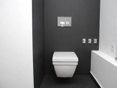WC-Anlage nach Sanierung einer Eigentumswohnung