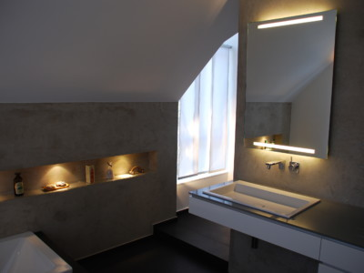 Waschtischanlage nach Sanierung einer Eigentumswohnung